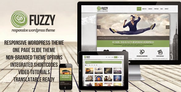 FUZZY jQuery responsive wordpress theme Version 1.1 free