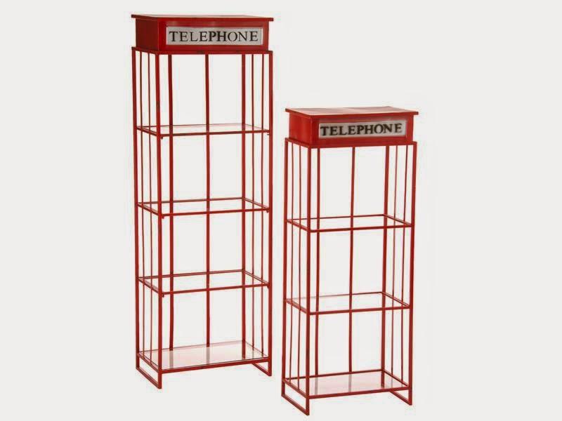 2 estanteria en rojo de forja