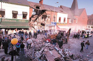 The carnage in the aftermath of the IRA bombing on the Shankill Road (Photo: Irish News)