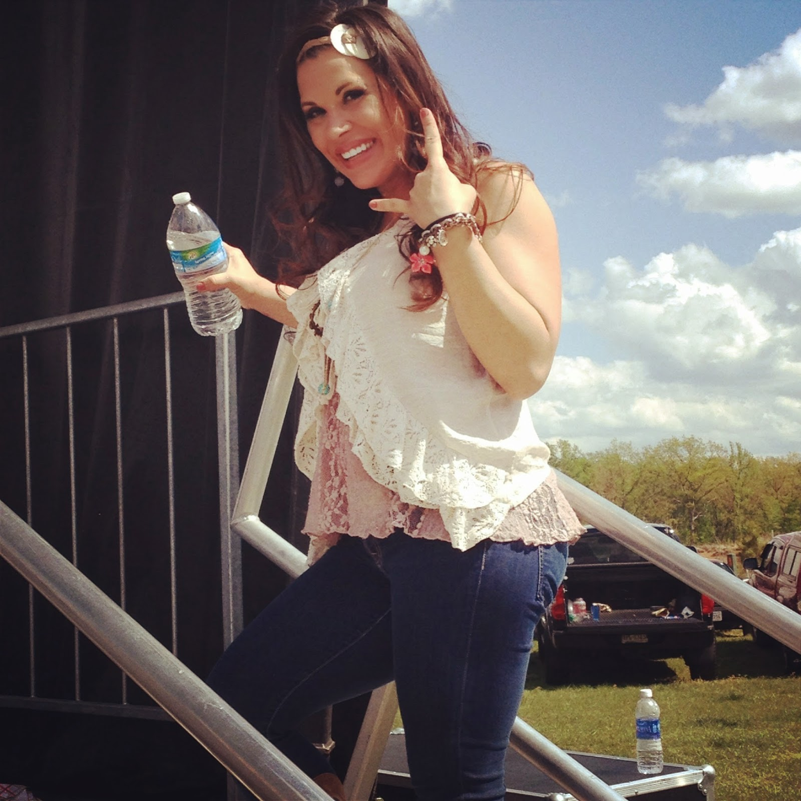 Mickie James 2012 Singing The lead singer gave me some