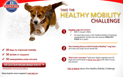 Hill's Science Diet Healthy Mobility Challenge Sweepstakes