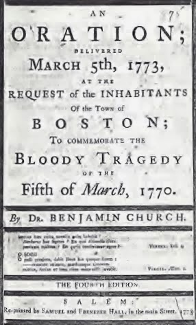 Boston Massacre Oration