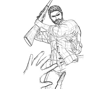 #9 The Last of Us Coloring Page