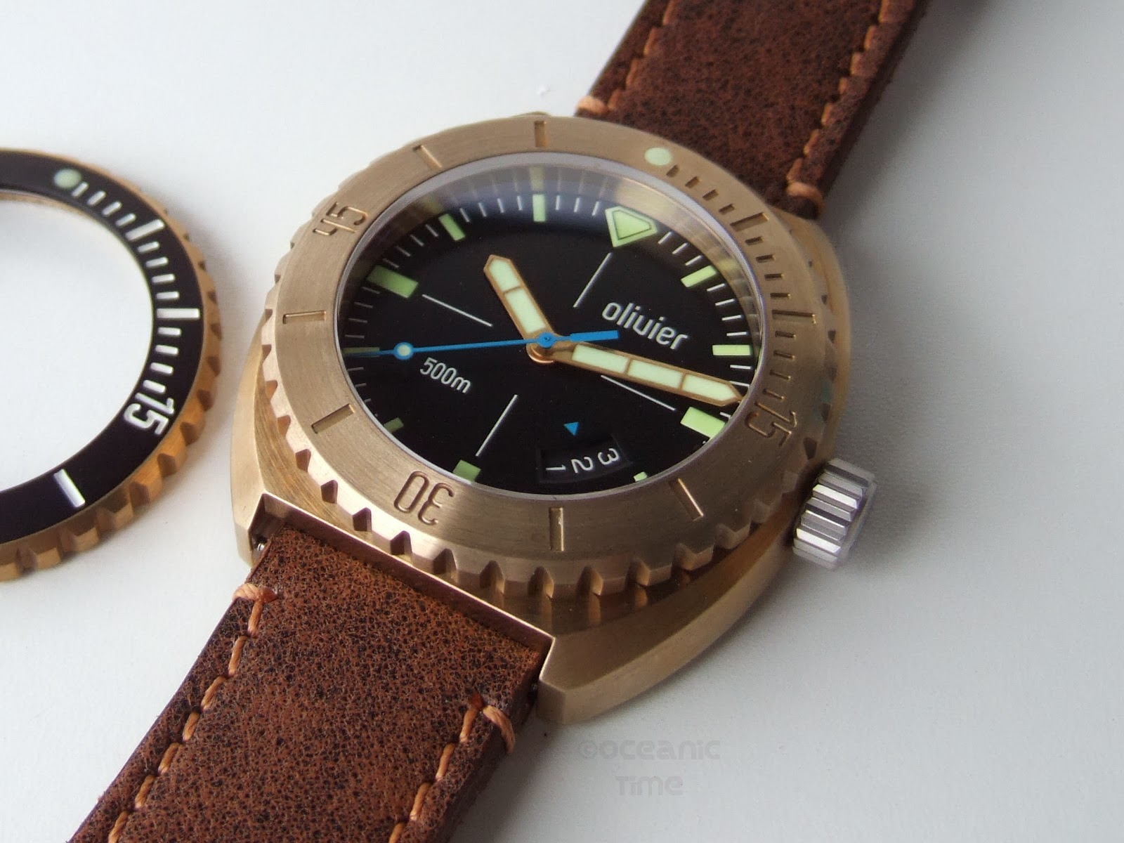 Oceanictime olivier bronze diver eta n 8 - Bronze dive watch ...