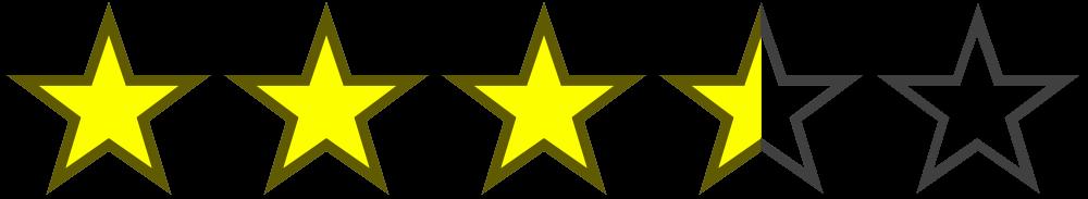 3.5 Stars Ratin