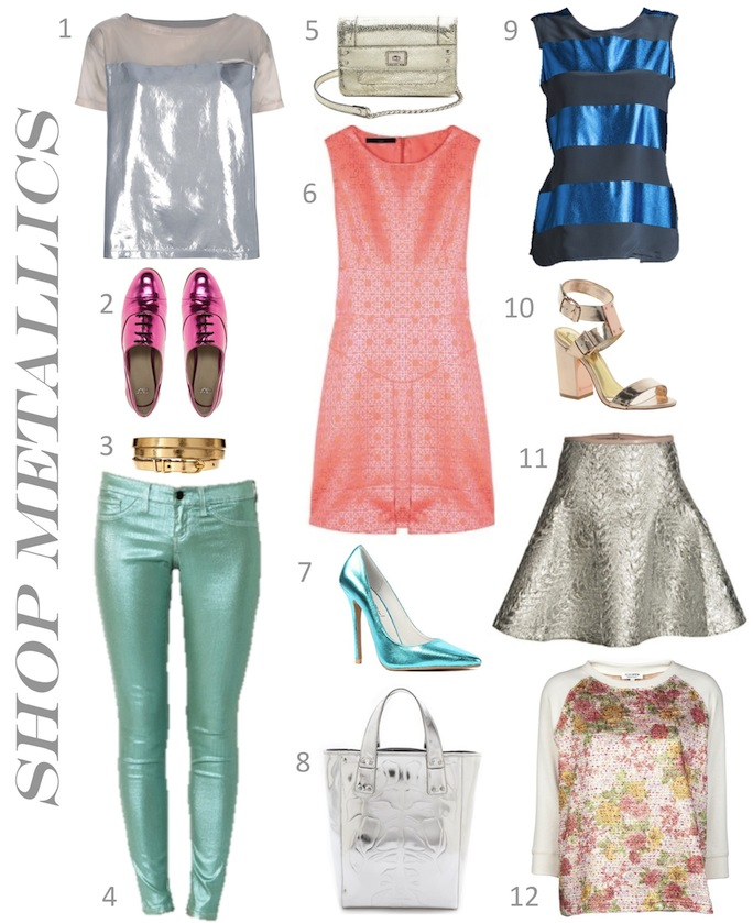 shop metallic clothing