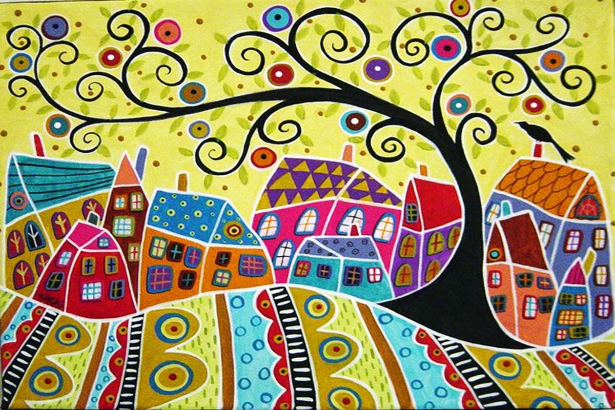 Картинки домики сказочные нарисованные