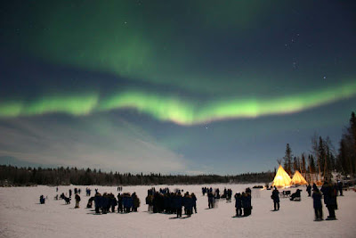 aurora boreal no canadá, país do hemisfério norte, imagem