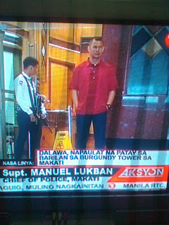 Burgundy Tower Makati Shootout One Dead