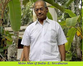 Metro man E Sreedharan