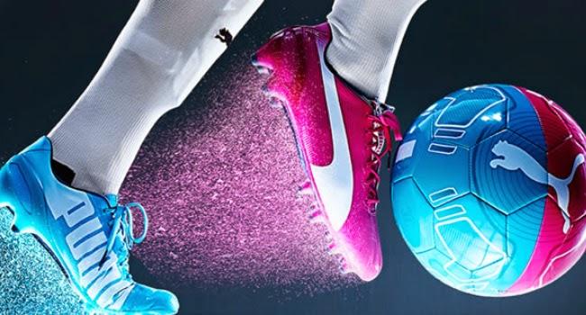 Zapatos Puma De Futbol Rosa Y Azul