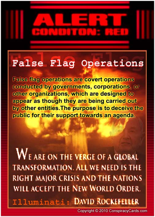 Normally Within Just A Few Hours False Flags