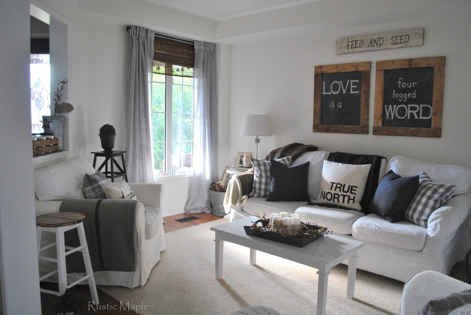 Best Of The Week 9 Instagrammable Living Rooms: Rustic Maple: Our Neutral Fall Living Room Tour