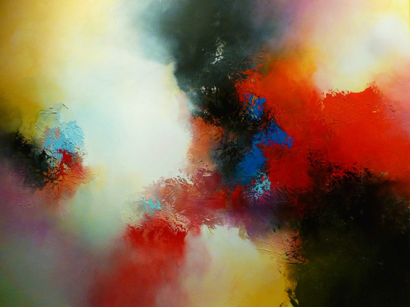 SIMON KENNYS LATEST ABSTRACT PAINTINGS ON CANVAS
