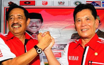 Drs. H. Abang Tambul Husin dan Pdt. Barnabas Simin, M.Pd.K.