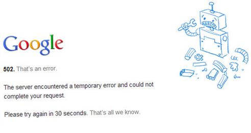 Gmail Not Working and Showing 502 Error