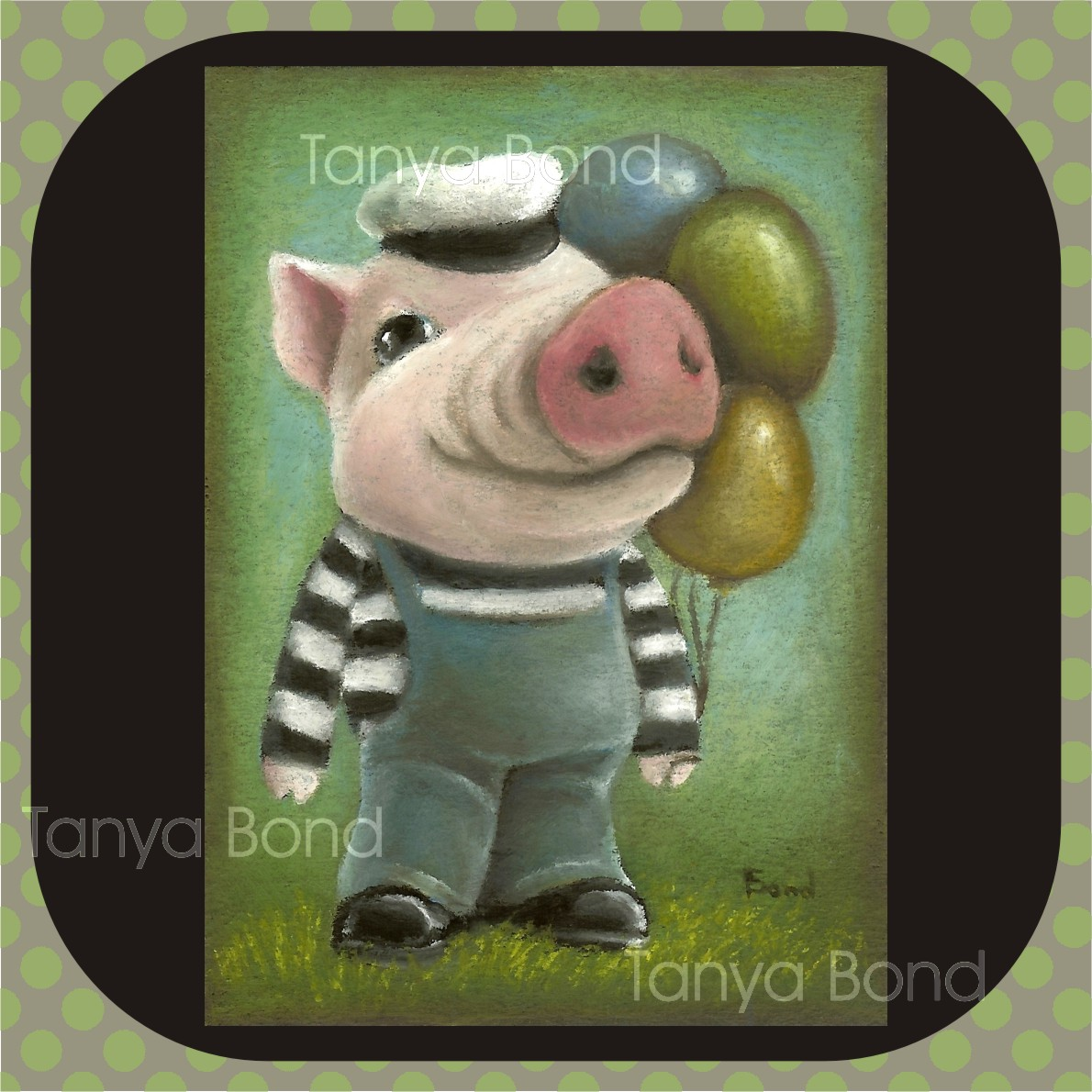 Tanyas Charming Creatures Oil Pastel Paintings And More 2011 Computer Geek Circuit Board Green Magnetic Picture Frame Zazzle Cards Magnets T Shirts Etc In My Shop