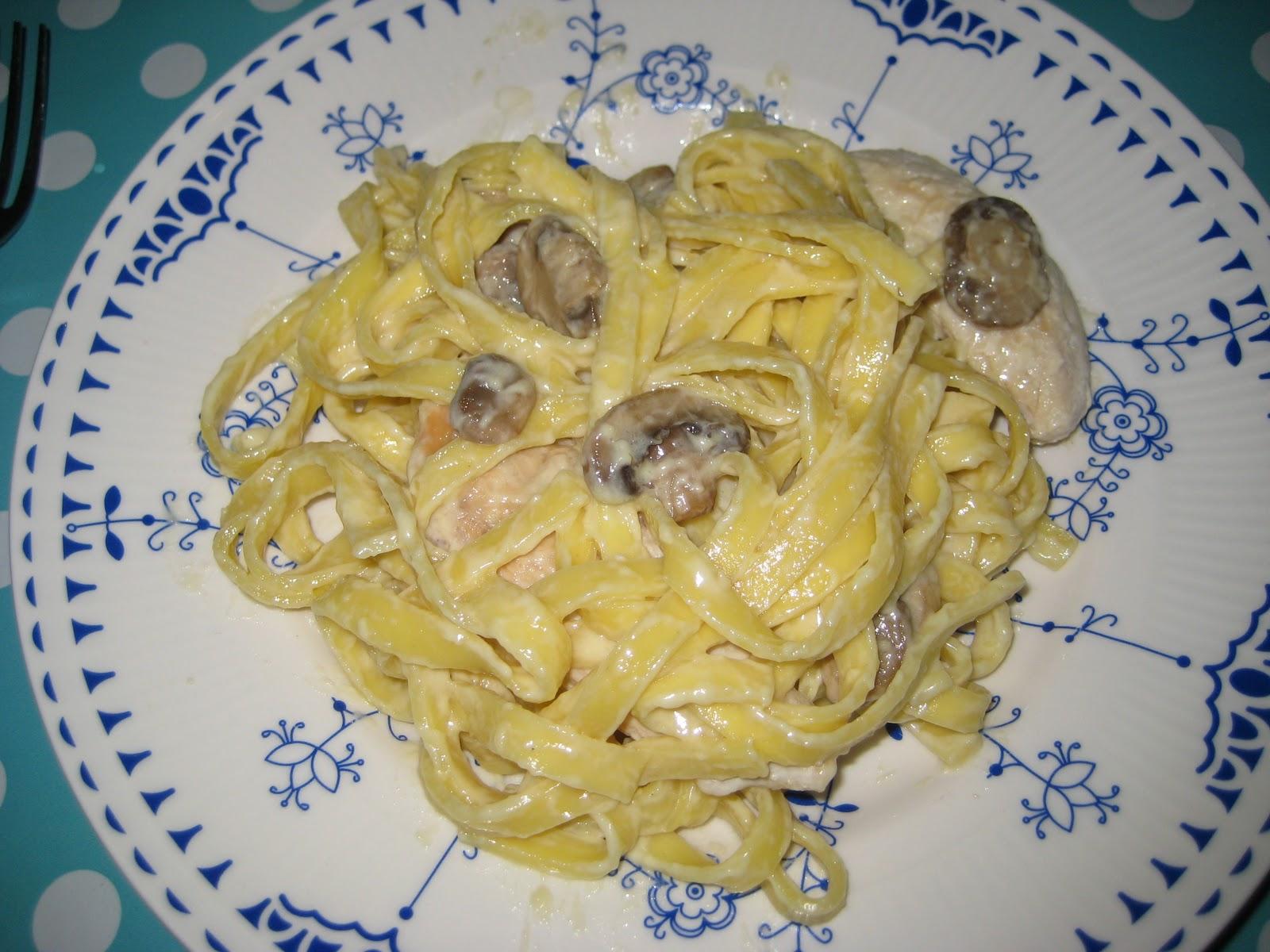 pasta champignon fløde