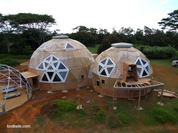 arquitectura de casas estructuras domo usadas como vivienda