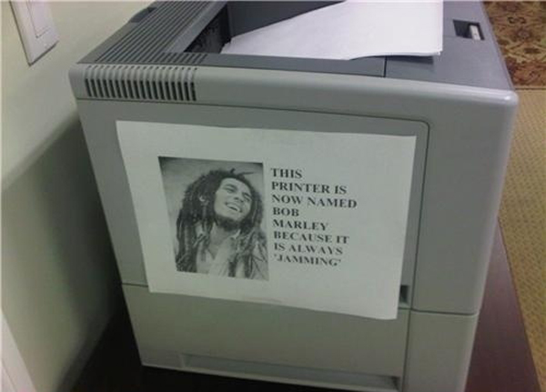 Bob Marley paper printer jam
