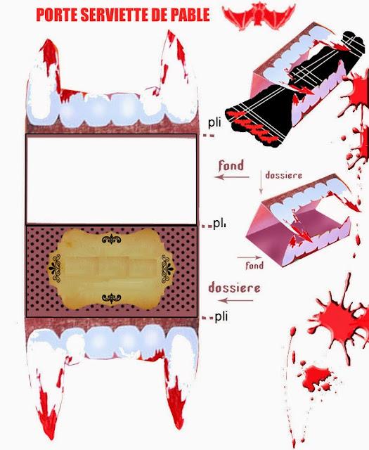 Dracula Fang Free Printable Napkin Ring.