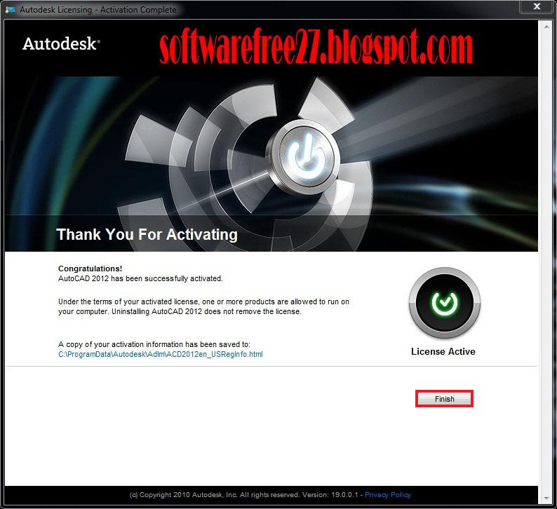 autocad 2012 license key free
