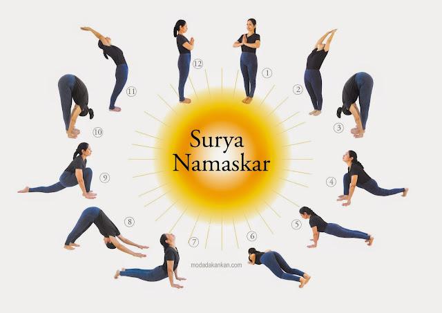 Güneşe Selam Yogası ile Hızlı Yağ Eritin