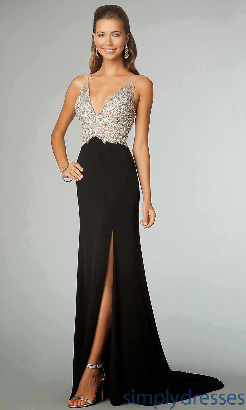 Images of Dillards Black Prom Dresses - Reikian