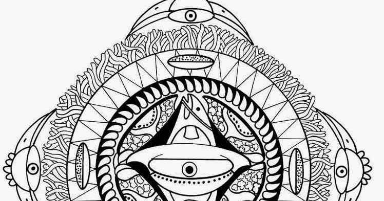 countries polynesian mandala coloring pages with face bird and fish