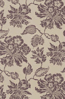 Floral Wallpaper T4104 Brown on Natural
