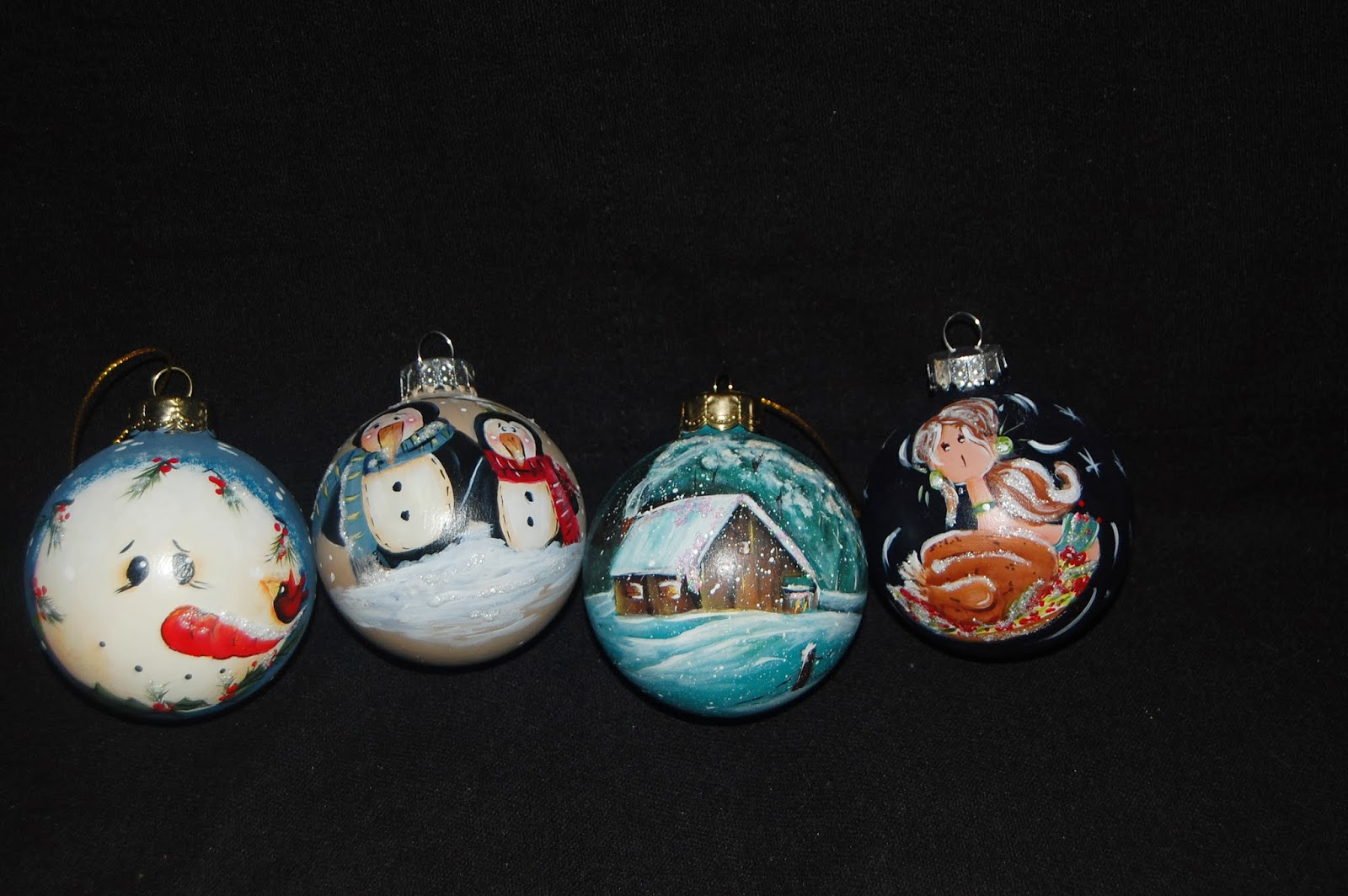 Les bidouilles blog de peinture d corative les boules de no l - Peinture de noel ...