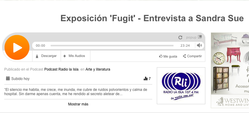 http://www.ivoox.com/exposicion-fugit-entrevista-a-sandra-sue-audios-mp3_rf_3248081_1.html#