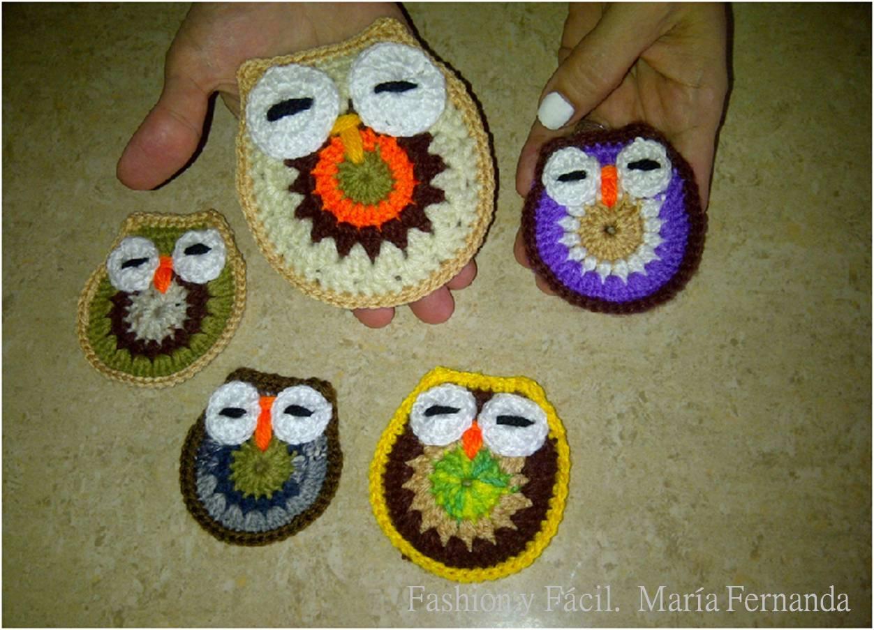 Fashion y Fácil : Buhos tejidos DIY ¿Cómo tejer buhos de crochet ...