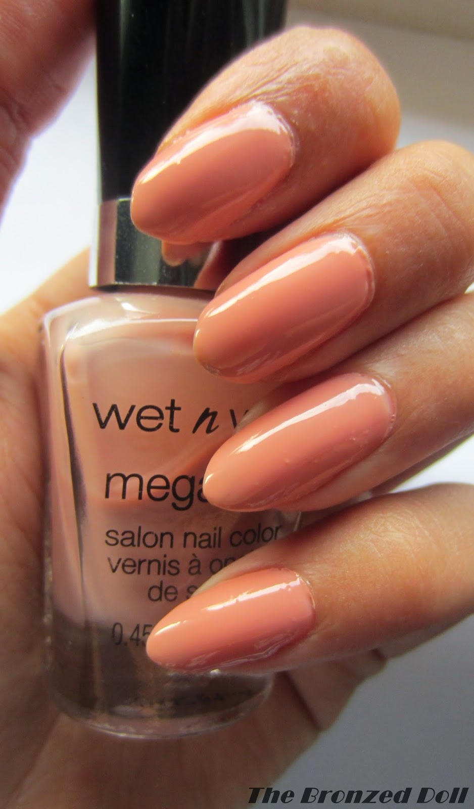 review and swatch of wet n wild nail polish called private viewing