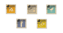 Vintage Style Social Bookmark Icon