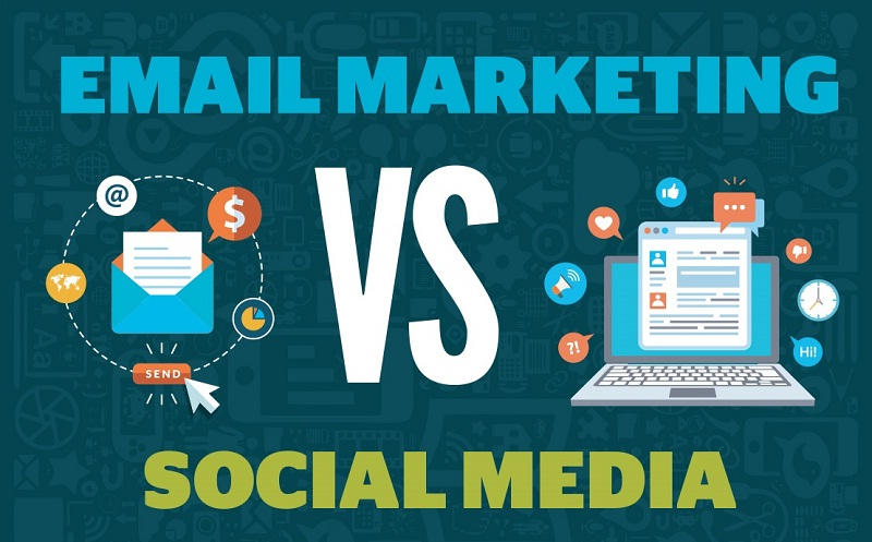 #SocialMedia Vs Email Marketing - #Infographic
