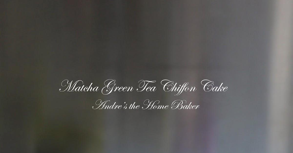 ♥ Matcha Green Tea Chiffon Cake ♥