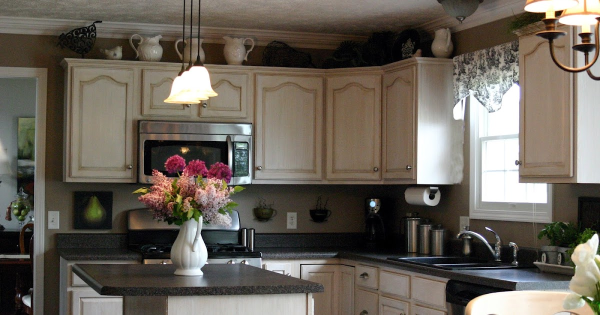 How To Decorate Top Kitchen Cabinet For Spring - Interior ...