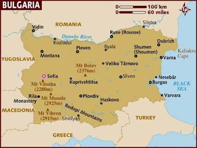 Búlgaro Mapa del País