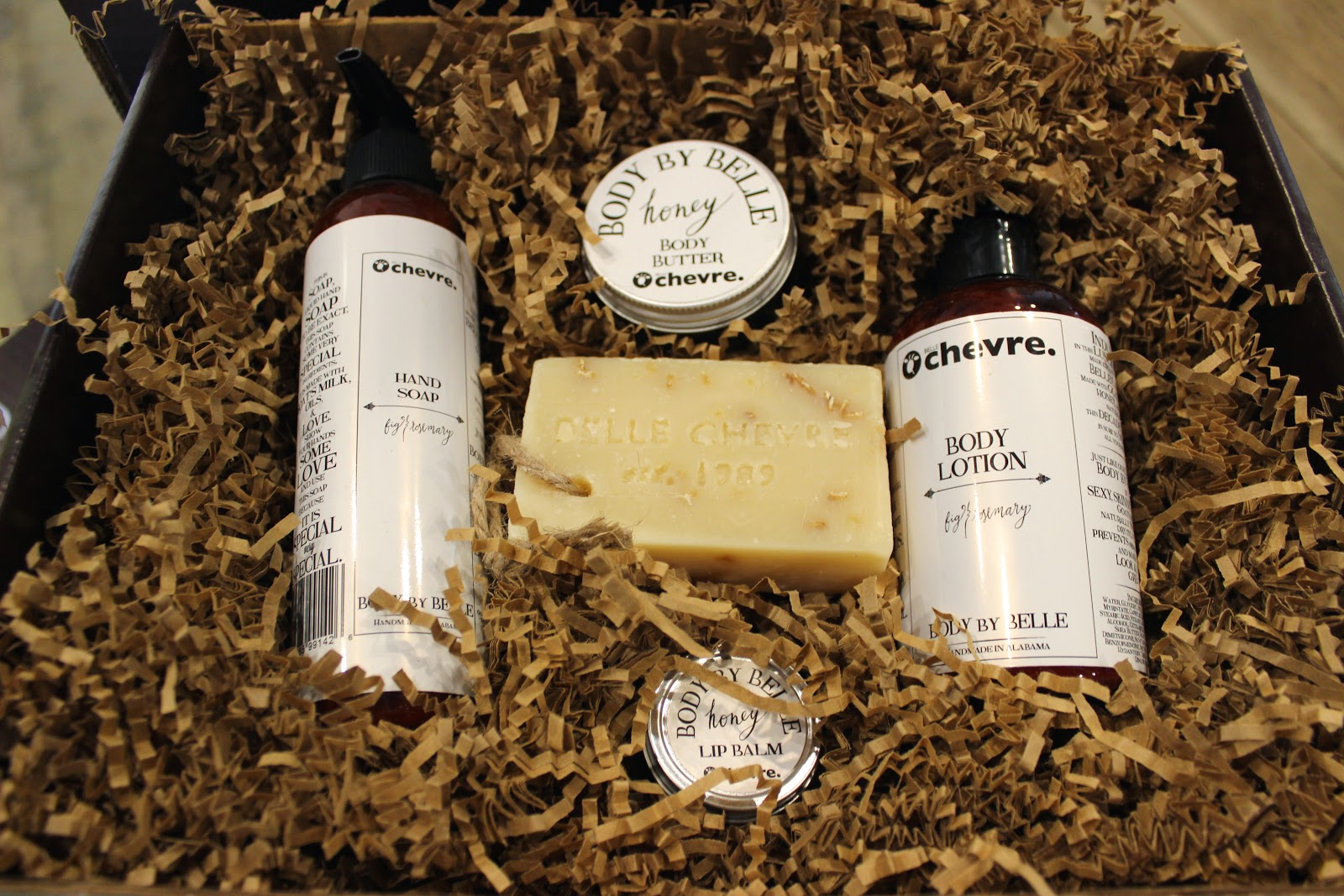 belle chevre body products