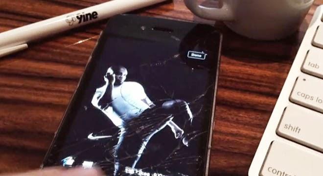 Nike disimula la pantalla rota de tu smartphone