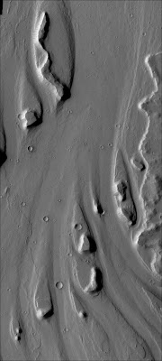 NASA Mars streamlined hills.