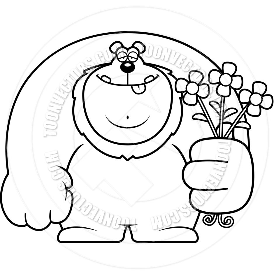 Black and white cartoon flowers mightylinksfo