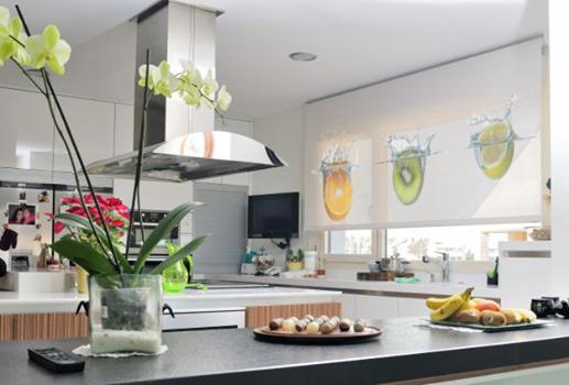 Lekune cortinas para cocinas for Estores de cocina modernos