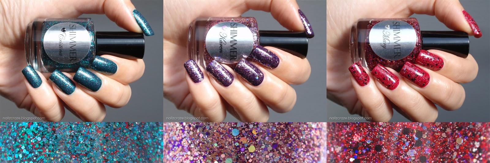Shimmer Nail Polish Swatches and Review - Cristina, Karen & Mary ...
