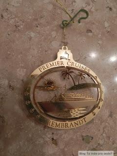 enfeite de Natal do navio Rembrandt