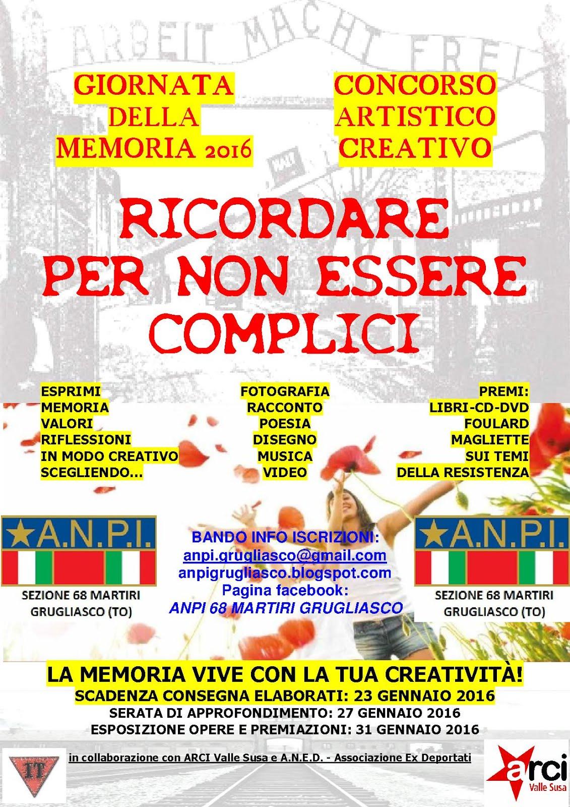 Concorso artistico-creativo Giornata della Memoria 2016