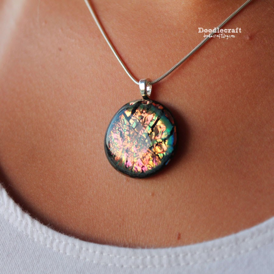 Doodlecraft dichroic glass pendants i used fuseworks glass microwave kiln read my full review from yesterday aloadofball Images