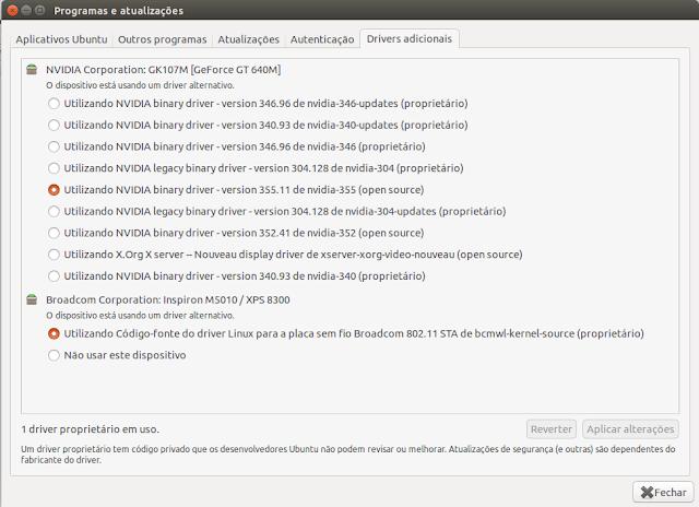 Como instalar drivers de vídeo Ubuntu