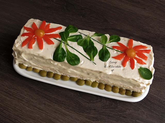 Tarta de pan de molde, smorgastarta o sandwichón – Sandwich layer cake